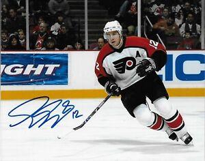 Autographed Philadelphia Flyers Simon Gagne 8x10 Photo #2 Original