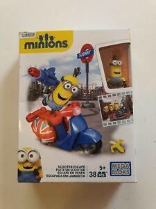 Mega Bloks Minions Scooter Escape 38 Piece Set Free Shiping