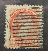 c1880 Canada SC #37 QUEEN VICTORIA  used stamp