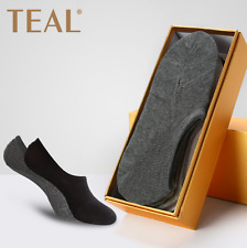6 Pairs Invisible Anti-Bacterial and Deodorant Mens Socks with Box 4 colors