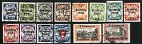 DANZIG SC# 241-254 Postage Stamps Collection GERMAN Occupied 1939 USED