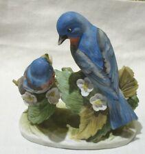 Lefton China Hand Painted Porcelain Kw467 Blue Bird