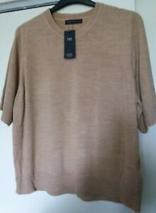 M&S Collection Soft Touch Short Sleeved Jumper Plus Size 22