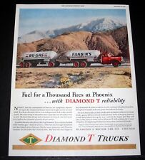 1944 OLD WWII MAGAZINE PRINT AD, DIAMOND T TRUCKS, FUEL FOR A THOUSAND FIRES!
