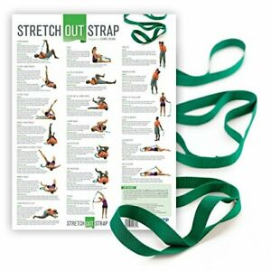 Stretch Out Strap with Stretching Exercise Poster