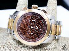 Invicta Quartz Chronograph Rose Gold St.Steel Checkerboard Dial Men's Watch 4060