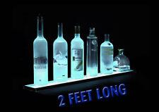 "24"" BOTTLE DISPLAY - BAR DISPLAY - BRIGHT WHITE LED SHOT GLASS - BEER GLASS"