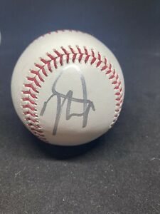 LOS ANGELES ANGELS MIKE TROUT SIGNED BASEBALL JSA COA AUTOGRAPH ALL STAR MVP