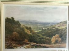 "Lithograph titled ""A Wide Stretch From The Gibbet Hindhead"" 1906"