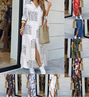 Womens Long Dresses Skinny Casual sexy Ladies Party Loose Maxi Wrap Dresses