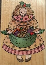 Hero Arts Wood Mounted Rubber Stamp - Harvest Gal