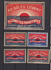 Ancienne étiquette  allumettes Belgique    AZ5421  Au  Soleil Levant