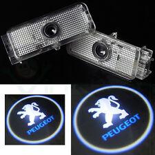 2x luce LED proiettore LOGO Peugeot portiera sportello auto tuning 206 207 LP1