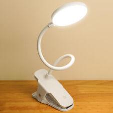 Flexible USB LED Light Clip On Bedside Table Desk Lamp Night Reading Study White