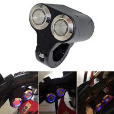 Blau LED 12V Roller Motorrad Lenker Schalter Druckschalter Schwarz Alu Self-Lock