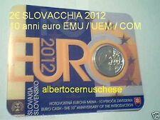 2012 2 euro coin card SLOVACCHIA Slovaquie Slovakia Slovenska 10 EMU UEM COM