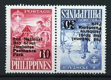 Boy Scout Jamboree mnh tete-beche pair 1961 Philippines #833a