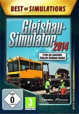 PC Computer Spiel * Gleisbau-Simulator 2014  * Zug Train Eisenbahn Smulation 14