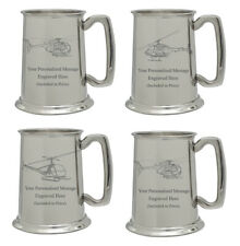 More details for personalised helicopter pewter tankard aviation pilot engineer birthday gift