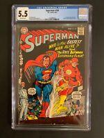 Superman 🔥 #199 (1967) CGC 5.5 1st Superman Vs Flash Race! DC Comics!