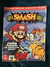 Authentic Prima's Official Strategy Guide - Super Smash Bros. Nintendo 64 N64