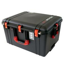 Black & Red Pelican 1637 Air case No Foam.  With wheels.