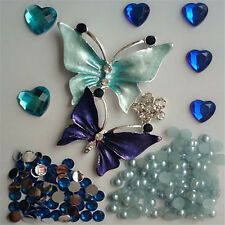 Alloy butterfly DIY Cell Phone Iphone4 4/5/6S Crystal Case-Deco Den Kit