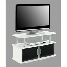 Convenience Concepts Designs2go Deluxe 2 Door TV Stand White - 151165W
