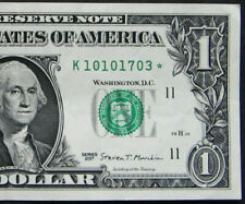 """2017 $1 (ONE DOLLAR) – STAR NOTE – CURRENCY, BILL – """"K"""""""
