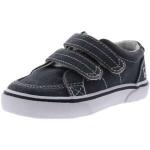 Sperry Boys Halyard Gray Twill Sneakers Shoes 8 Medium (D) Toddler BHFO 5740