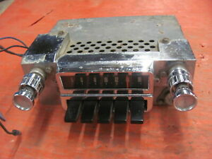 Original 1966 66 Ford Mustang AM Pushbutton Radio with Knobs 6TPZ-264774 Push