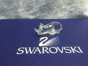 Swarovski Crystal Small Rhinoceros 7622060000 151521. Retired 1995. MIB