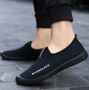 Men's Slip On Running Athletic Sneakers Casual Breathable Sports Walking Shoes
