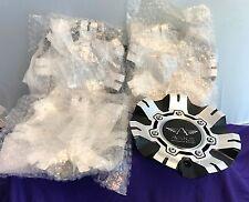 """Avarus Silver and Black Custom Wheel Center Cap (FOUR) # cap m-344-1, 20"""", 22"""""""