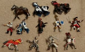 Lot of Papo Schleigh Knights Figures Horses Pirate Figures Toys Medieval