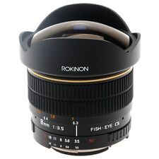 Rokinon 8mm Ultra Wide F/3.5 Fisheye Aspherical Hi Def lens for Olympus FE8M-O