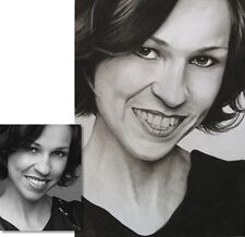Jannys ART - PORTRAIT vom Foto -  Kohlezeichnung DIN A3 - Original Malerei Kunst