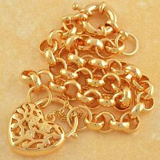 Arab Style 9K Gold Filled Heart Bracelet,So Beautiful,F2269