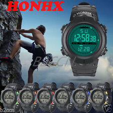 New Men's LED Digital Stopwatch Date Rubber Outdoor Sport Wrist Watch Waterproof