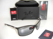 Ray-Ban  Liteforce RB 4179 601S/82 62mm Matte Black / Silver Polarized Mirror