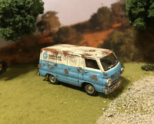 1964 Dodge A100 Van Rusty Weathered Barn Find 1/64 Diecast Custom M2 Rust