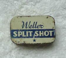 Vintage Fishing Weller Split Shot Sinkers Tin Box Sioux City Iowa Edwin Weller C