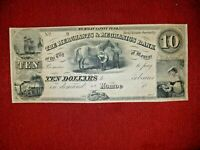 "MI275G18 1837 $10 ""Shoeing the Bay Mare""The Merchants & Mechanics Bank~Monroe,MI"