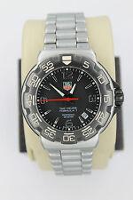 Tag Heuer WAC1110.BA0850 BLACK Red Formula 1 One Professional Watch Mens SS Box