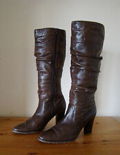 Knee High Boots Genuine Leather Size 7 Slim/ Standard Fit, by Cherokee