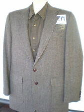 (40L) Vintage HAGGAR Imperial Tweed Herringbone BROWN Sport Coat Blazer Jacket