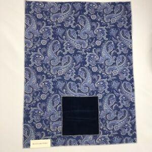 "Ralph Lauren Fabric Sample Harrow Paisley Royal Blue Velvet 26"" x 35"""