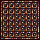 """SQUARESVILLE - Black - 95"""" - Pre-cut Quilt Kit by Quilt-Addicts King size"""