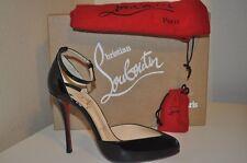 NIB Christian Louboutin DOLLYLA 100 Ankle Strap Heel Pump Shoe Black Patent 37