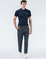 Mens Lacoste Slim Fit Flecked Navy Twill Trouser - Size W 42 - BNWT - RRP £150